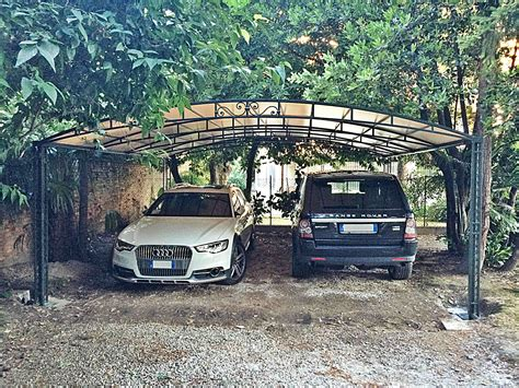tettoia in ferro tettoie per auto in ferro