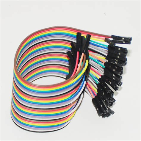Cable Jumper 1 40pcs dupont cable jumpers dupont connector to wire jumper pin dupont 20cm