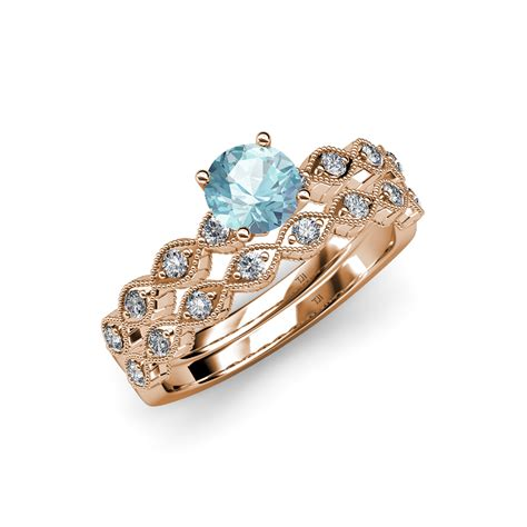 aquamarine marquise shape engagement ring