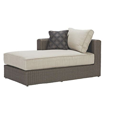 wicker sectional sofa with chaise hanover strathmere all weather wicker patio luxury chaise