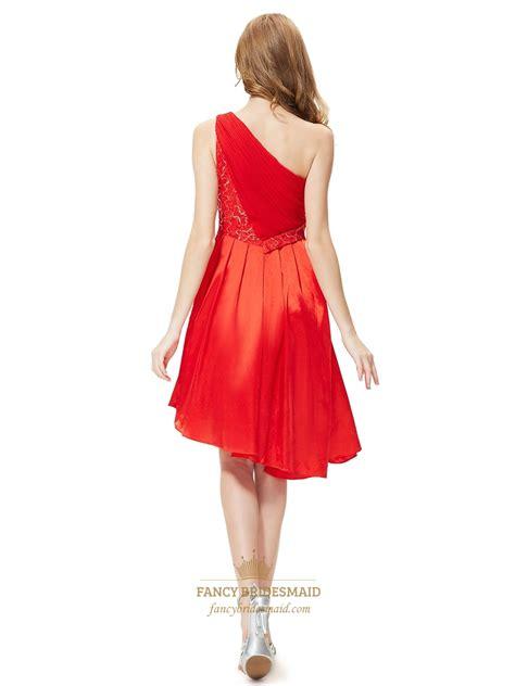 one shoulder asymmetrical hem bridesmaid dresses - Bridesmaid Dresses Asymmetrical Hem