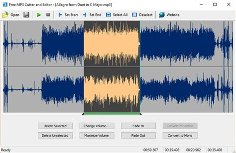 cortar archivos de audio software gratuito para cortar audio y realizar otras