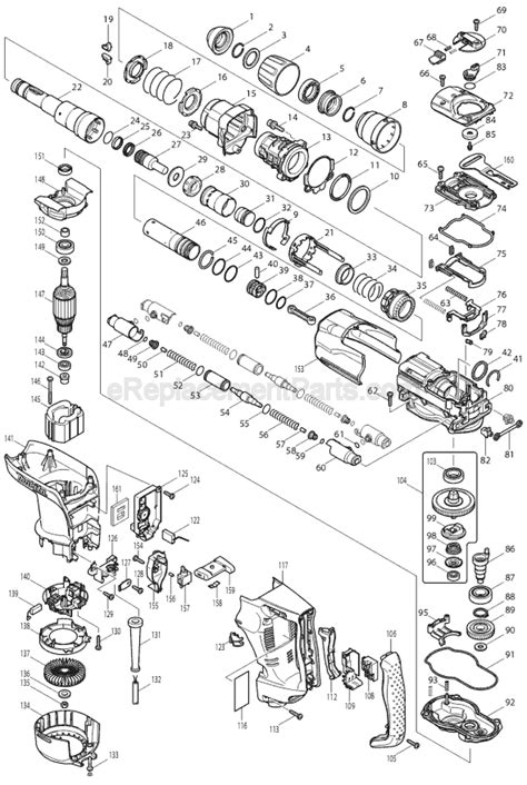 Bosch Hammer Piston Gbh 2 22 Re Gbh 2 23 Re 1617000534 makita hr4010c parts list and diagram ereplacementparts