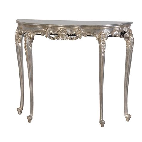 tiffany silver french hall table silver console table