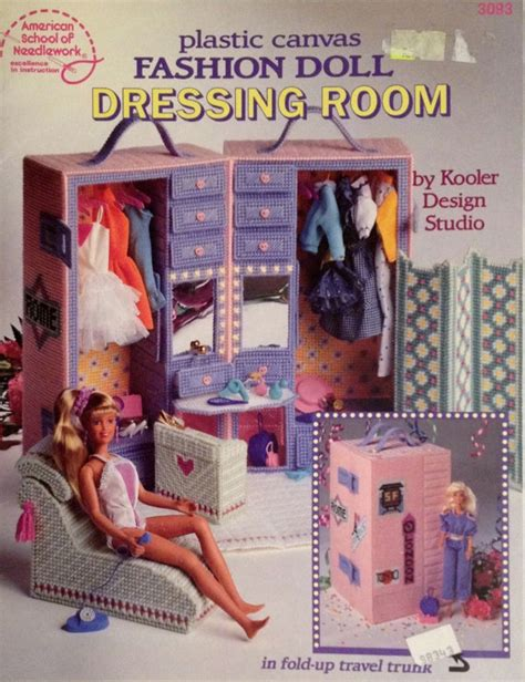 fashion doll furniture items similar to plastic canvas dressing room book fashion