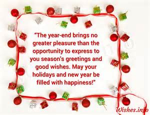 wishes and greetings the year end brings no greater