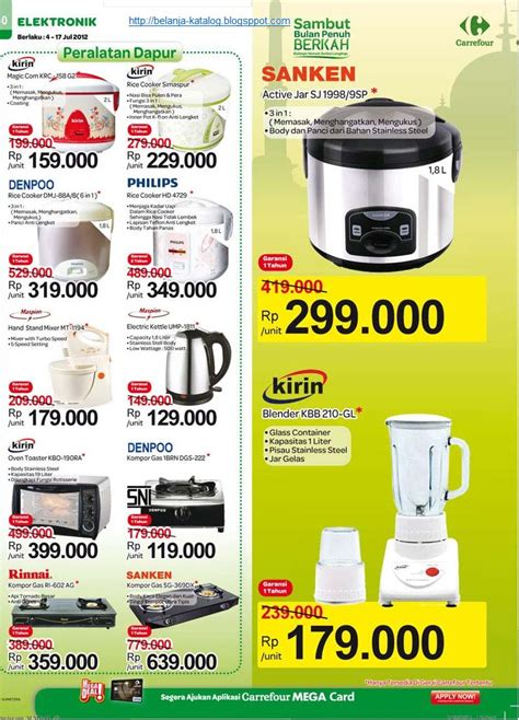 Kulkas Sharp Kirin katalog elektronik carrefour 4 17 july 2012 katalog