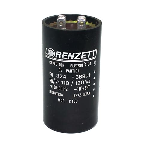 capacitor no motor monofásico capacitor partida de motor 324 389mf x 110v eletrope 231 as comercial eletr 244 nica ltda
