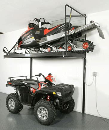 Snowmobile Rack For by Snowmobile Rack Wasatch Garage