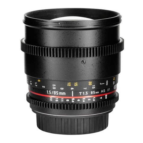 Samyang Lens 85mm T15 Vdslr Mk Ii For Sony Nex samyang xeen lens samyang 85mm t1 5 vdslr ii