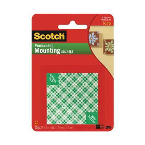 Scotch 3m Mounting 12 Mm X 3m scotch 3m 12 7mm x 12 7mm permanent mounting square