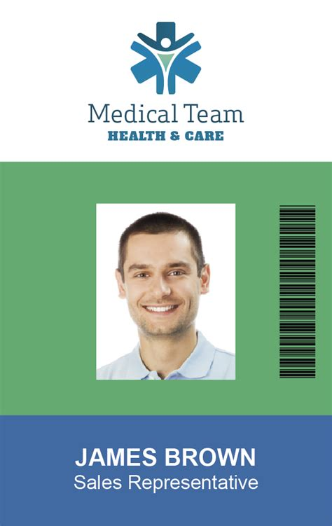 hospital id badge template free id badge templates and backgrounds easybadges