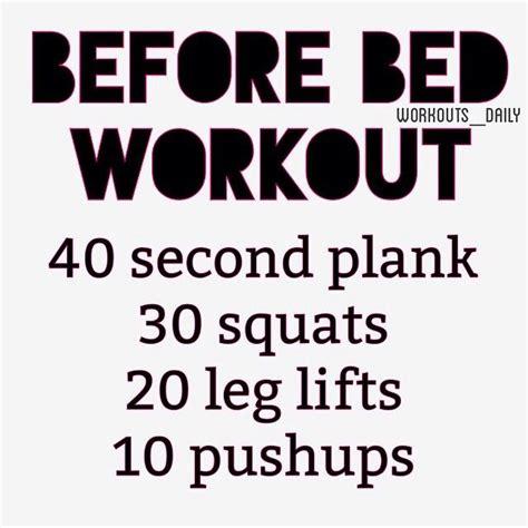 working out before bed bedtime workout fitness pinterest beds workout and