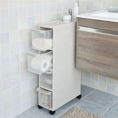 bathroom cabinet on wheels space saving ideas for small bathrooms storage ideas