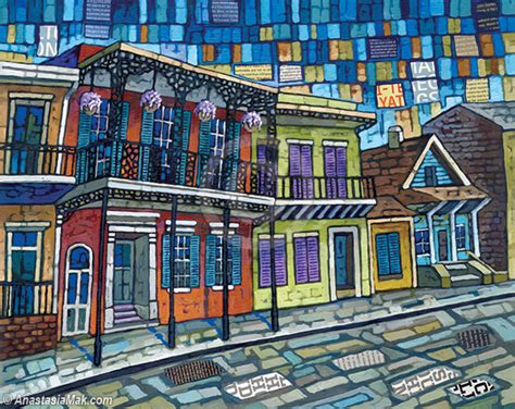 Quilt Shops New Orleans by New Orleans Painting By Mak