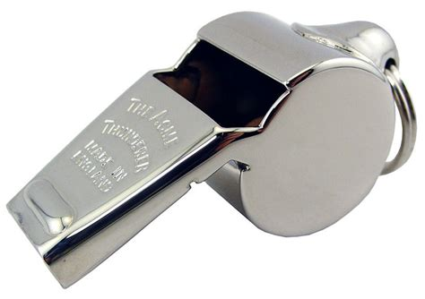 what is a whistle acme thunderer metal whistle 60 1 2 nickel plated brass 8 95