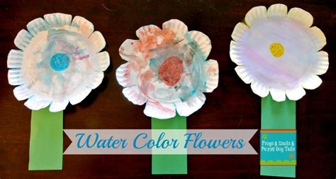 watercolor paper plate flower craft fspdt