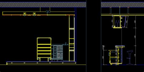 construction details bar dwgautocad drawing