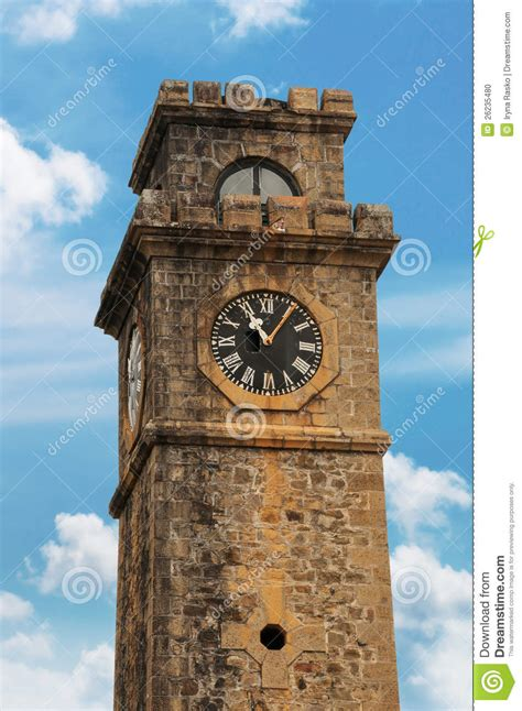 Historic Colonial House Plans by Old Clock Tower Stock Photo Image 26235480