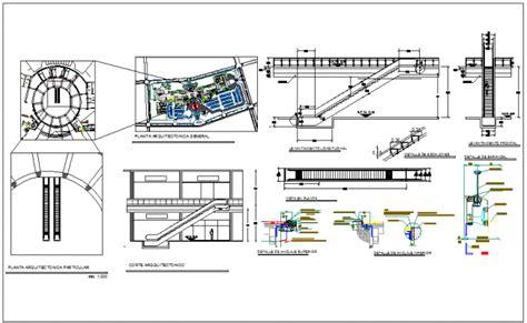 escalator floor plan escalator plan drawings dwg escalator elevator detail dwg