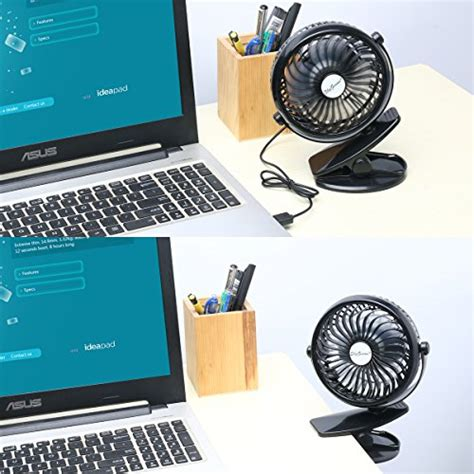battery powered fan amazon skygenius battery operated clip on mini desk fan black