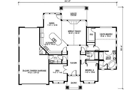tandem garage plans tandem garage house plans house plans
