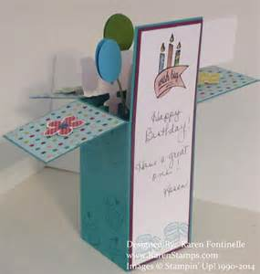 birthday pop up box card sting with