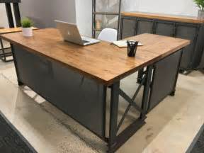 industrial desk l stylish desks with industrial designs and elegant details