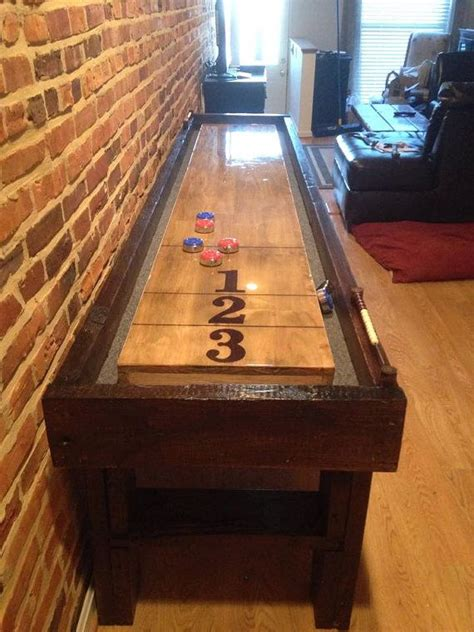 how to build a shuffleboard table 25 best ideas about shuffleboard table on
