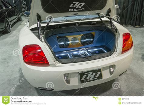 car audio system editorial stock photo image of event