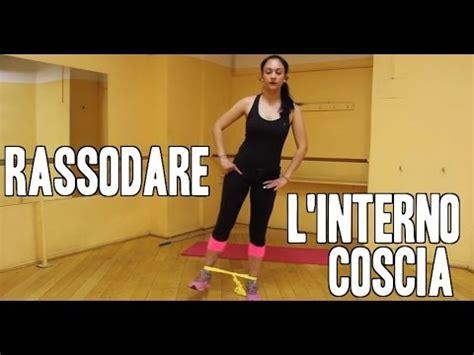 esercizi interno coscia con elastico come rassodare l interno coscia esercizi con l elastico
