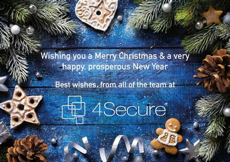 wishing     merry christmas  happy  year   secure team secure