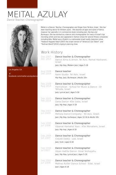 choreographer resume choreographer resume exle lifelong learning resume exles