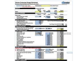 Farm Budget Template by New Stocker Enterprise Budget Spreadsheet Wi Beef