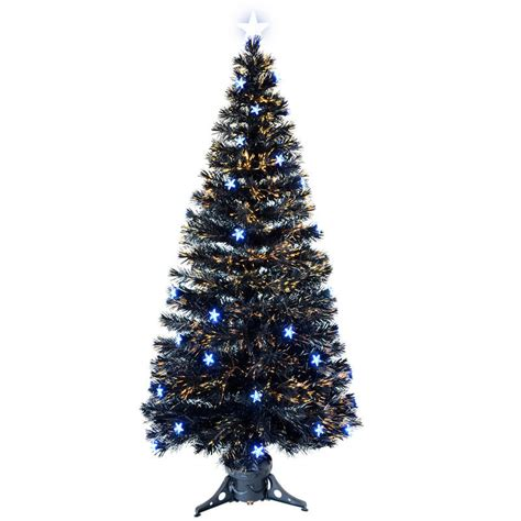 6ft 180cm beautiful black fibre optic christmas tree with