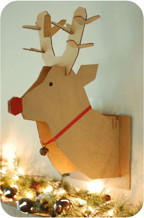 cardboard reindeer head template www imgkid com the