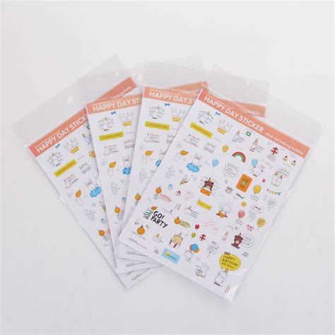 8 Adorable Stationery Kits by 8 Sheets Stationery Bunny Sticker Diy