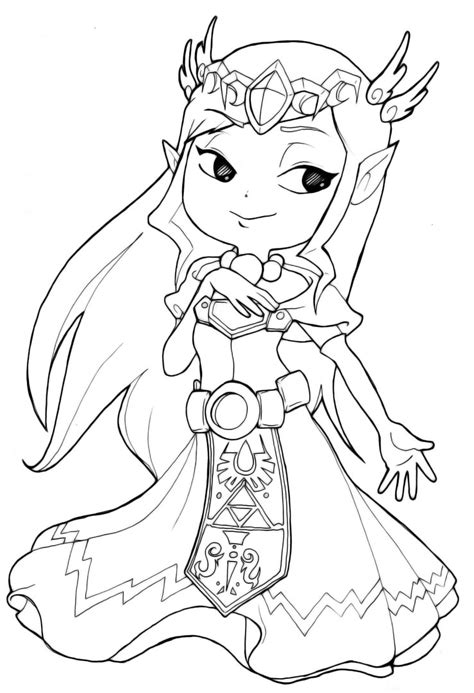 zelda coloring pages printable zelda free colouring pages