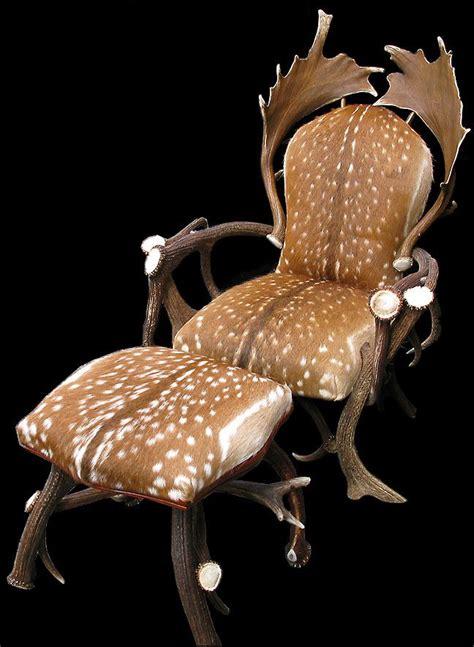 Deer Antler Chair by Fallow Deer Skin On Antler Chair Handsome Antlers