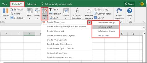 how to delete same rows or ranges across sheets