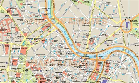 vienna map royalty free vienna illustrator vector format city map