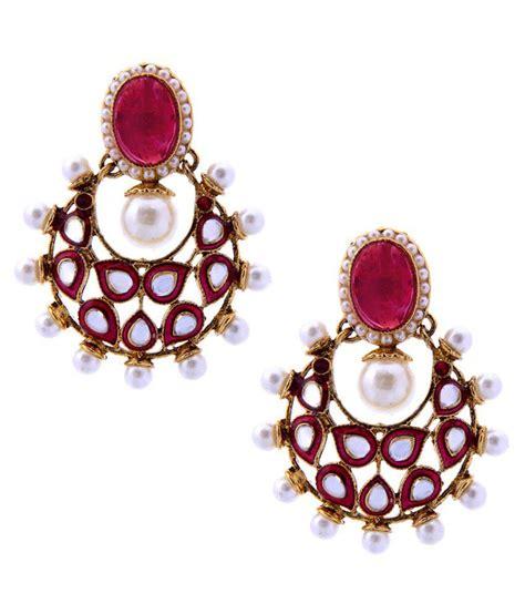 pink earrings celebrity tradisyon bollywood celebrity inspired classic pink kundan