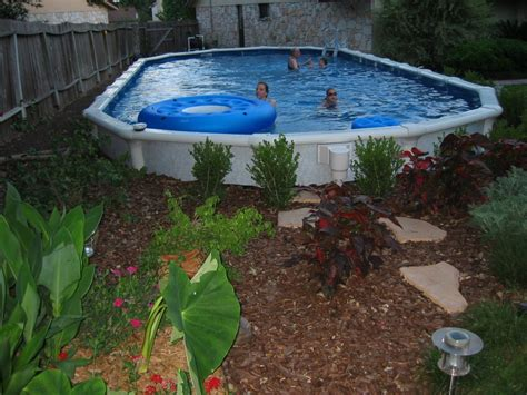 Above Ground Pool Landscaping Landscaping With Plants Landscaping Around Above Ground Pool