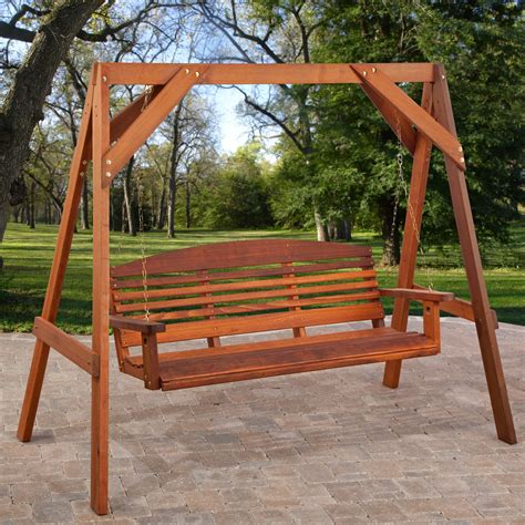 wood swing frame exterior wrought iron porch swings with a frame using