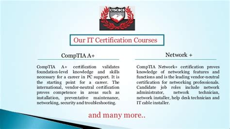 Cts College Mba by It Certifications At Cts College