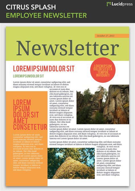 13 Best Newsletter Design Ideas To Inspire You Lucidpress Best Employee Newsletter Templates