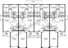 4 plex apartment plans 4 plex skinny units apartment house plan ideas