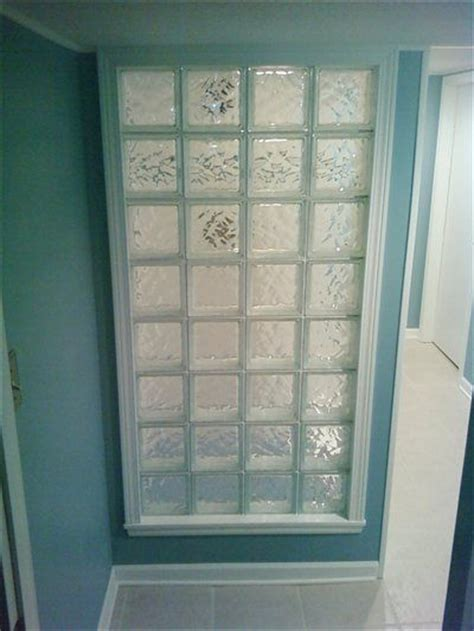 glass cubes for bathroom a basement bathroom idea glass block wall to make