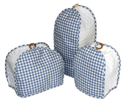 quilted kitchen appliance covers blue gingham quilted kitchen appliance cover from