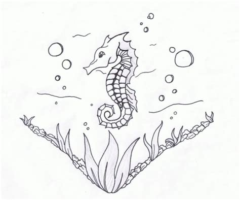 aqua seahorse tattoo design in 2017 real photo pictures